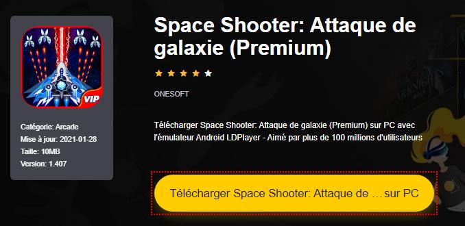 Installer Space Shooter: Attaque de galaxie (Premium) sur PC