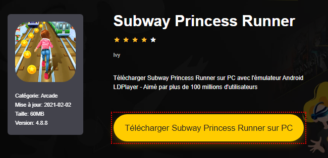 Installer Subway Princess Runner sur PC