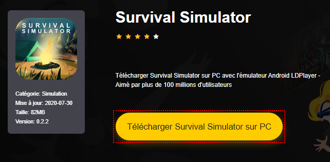 Installer Survival Simulator sur PC