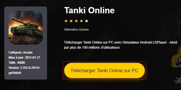 Installer Tanki Online sur PC