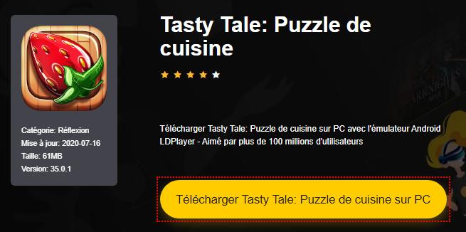 Installer Tasty Tale: Puzzle de cuisine sur PC