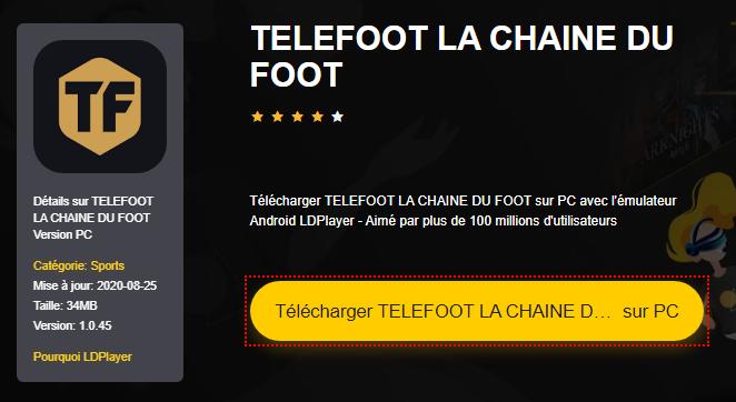 Installer TELEFOOT LA CHAINE DU FOOT sur PC