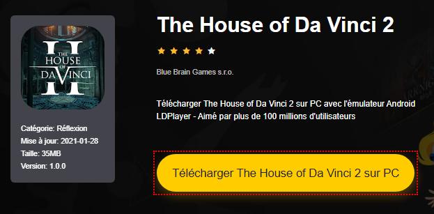 Installer The House of Da Vinci 2 sur PC