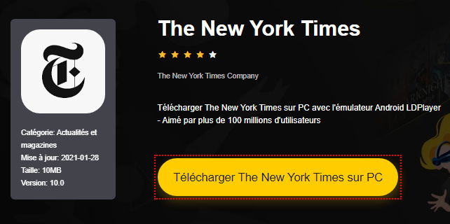 Installer The New York Times sur PC