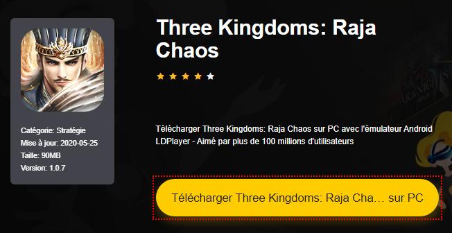 Installer Three Kingdoms: Raja Chaos sur PC