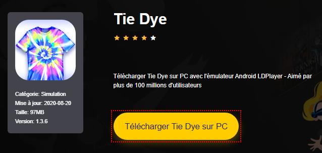 Installer Tie Dye sur PC