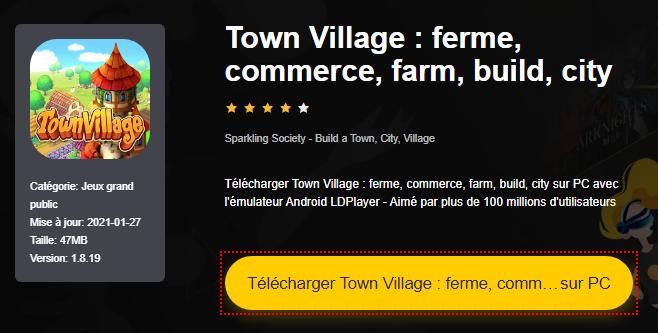 Installer Town Village : ferme, commerce, farm, build, city sur PC