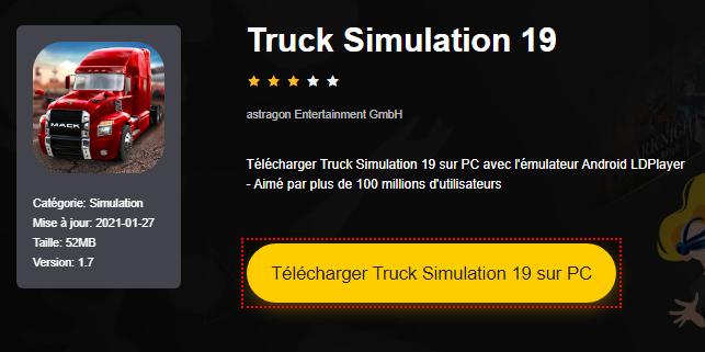 Installer Truck Simulation 19 sur PC