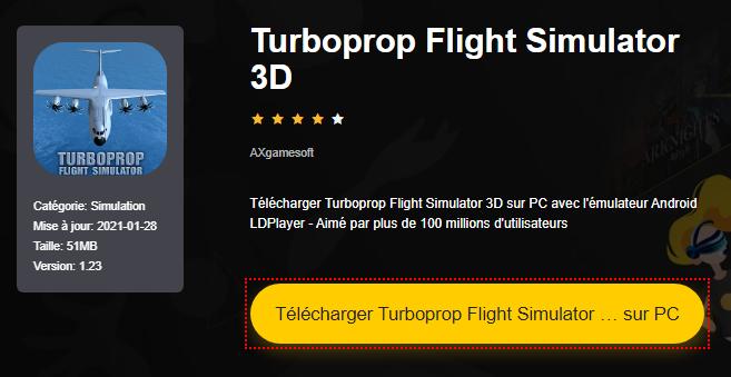 Installer Turboprop Flight Simulator 3D sur PC