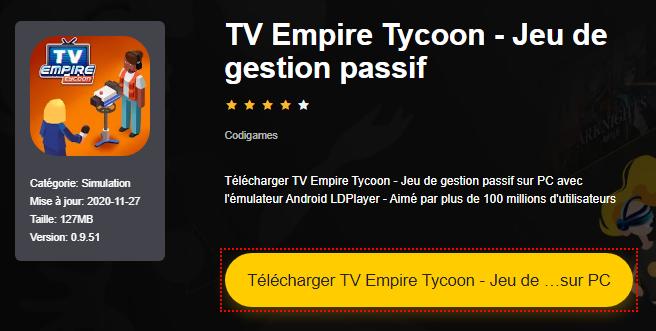 Installer TV Empire Tycoon - Jeu de gestion passif sur PC