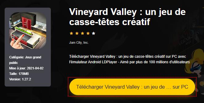 Installer Vineyard Valley : un jeu de casse-têtes créatif sur PC