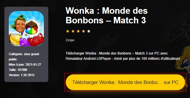 Installer Wonka : Monde des Bonbons – Match 3 sur PC