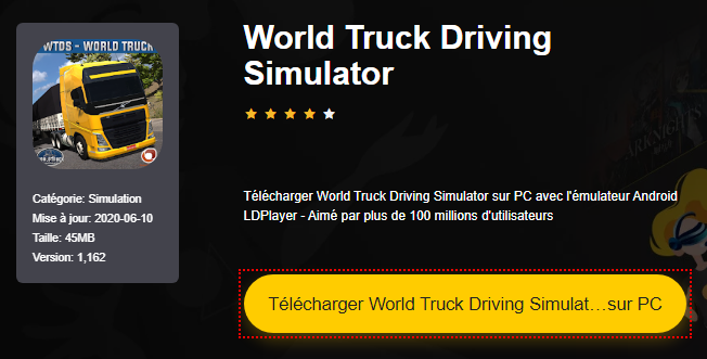 Installer World Truck Driving Simulator sur PC
