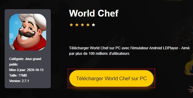 Installer World Chef sur PC