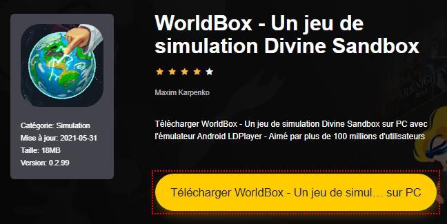 Installer WorldBox - Un jeu de simulation Divine Sandbox sur PC