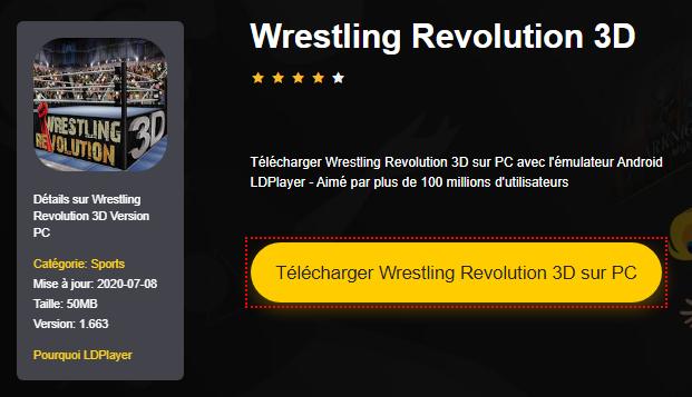 Installer Wrestling Revolution 3D sur PC