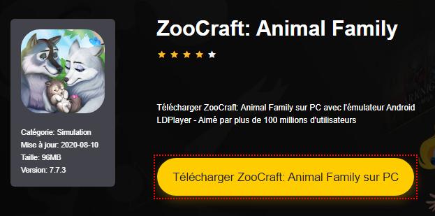 Installer ZooCraft: Animal Family sur PC